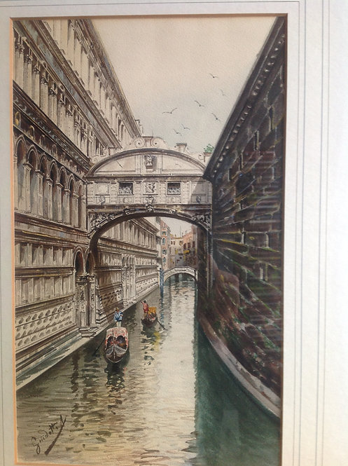 Antonio Guidotti (1881-1958) The Bridge of Sighs