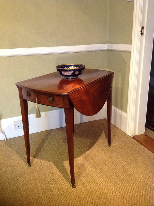 George III (c 1770) Mahogany Pembroke Oval Table