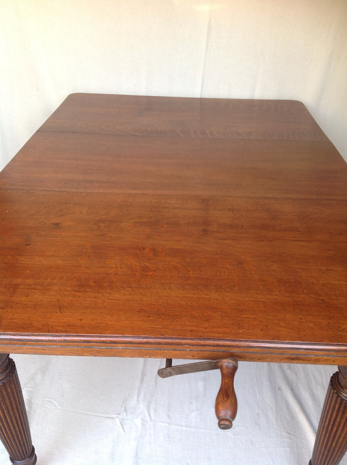 Antique 19th C Victorian Oak Extendable Table
