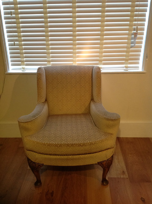 19th C Georgian Style Walnut Wing Back Chair