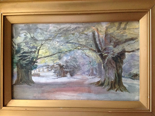 "19th C Watercolour ""Woodland Path"""
