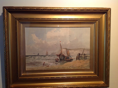 """ Fishermen with boats"" by Robert Anderson"