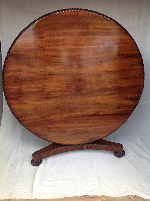 William IV (c1830) Rosewood Tilt Top Round Table