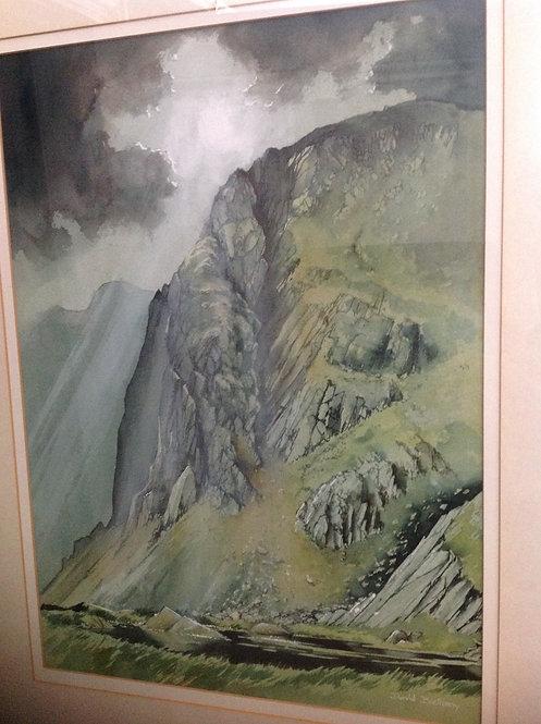"David Bellamy  (b 1943) ""Hard Tarn"" Watercolour"