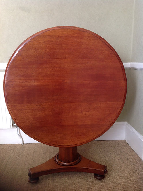 Victorian (c1860) Mahogany Tilt Top Round Table