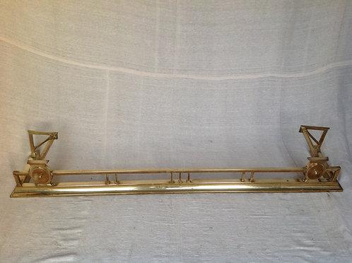 Antique Edwardian (c 1900) Brass Fire Fender