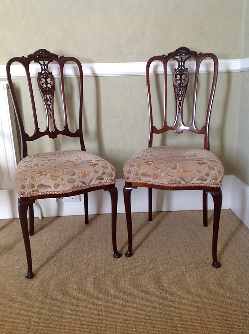 Antique Pair of Chairs in the style of Maple & Co