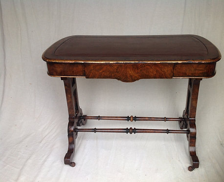 Antique Victorian ( c 1860) Burr Walnut Hall/Lamp Table
