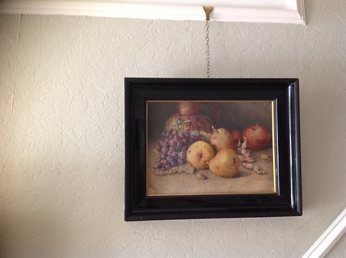 "A S Holding (c 1860 ) ""Still Life with Fruit """