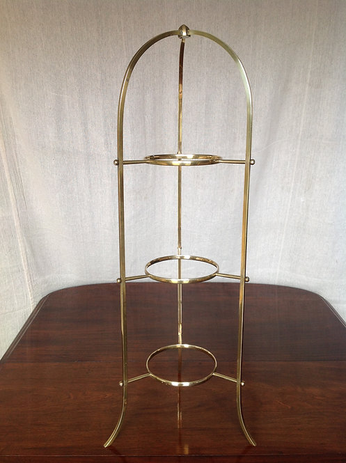 Victorian (c 1890) Brass Three Tier Cake Stand