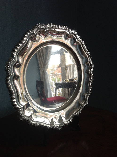 "Antique 12 "" Silver Plated Salver"