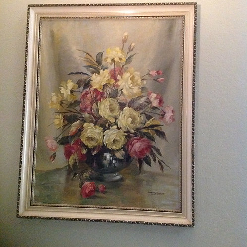 """D.Garrett (1908-2000) """"Still Life Flowers"""""""