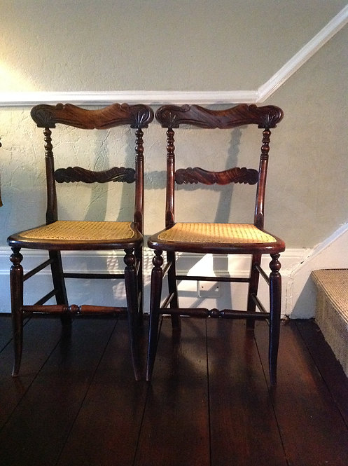 A pair of Victorian (c 1837) Rosewood Side Chairs