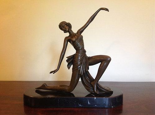 Jean Patou Signed Bronze of an Art Deco Dancer