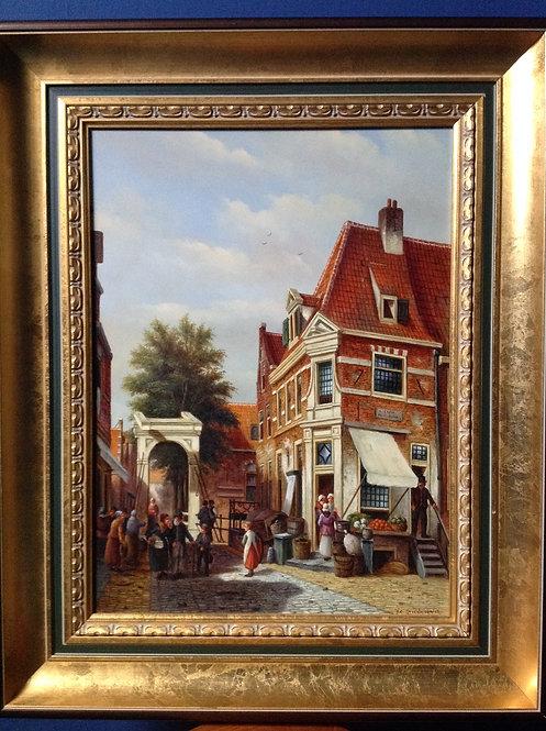 Oil on Board by Dutch Artist P.C. Steenhouwer