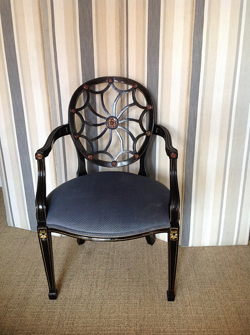 19th C Hepplewhite Style Spider Web Back Chair