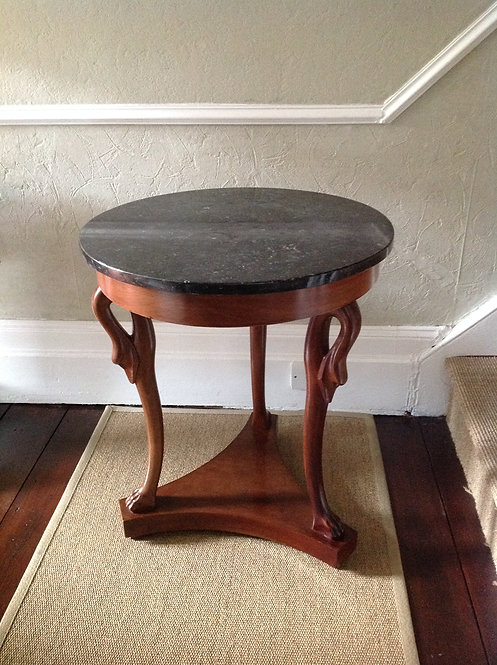 18th C Style Marble Top Gueridon Table