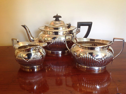 Mappin & Webb's Silver Plated Three Piece Tea Set