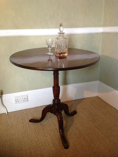 Victorian (c1860) Mahogany Tilt Top Table