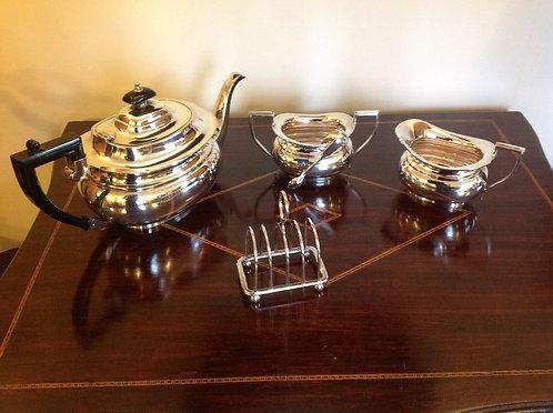 Silver Plated five piece Tea Set