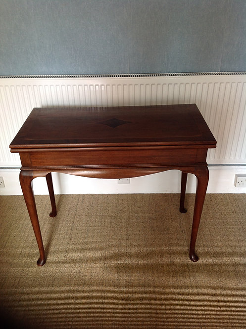 A George III Mahogany & Satinwood Card Table
