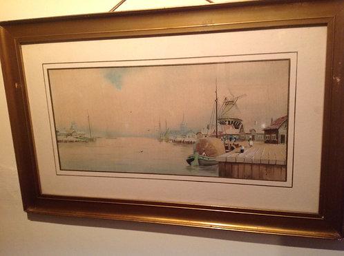 "19thC "" A Dutch River"" by Owen Merriman"