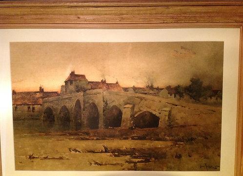 "John Terris RI RSW (1865-1914) ""Stirling Bridge"""
