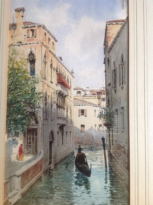 Natale Gavagnin Italian, 1851-1923  Venezia