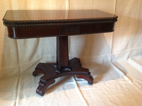 William IV (c1830) Rosewood Foldover Card Table