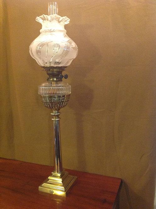 19th C Victorian (c 1860) Tall Oil Lamp