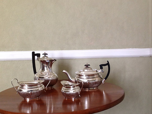 Antique Silver Plated 4 Piece Tea Set (Sheffield)
