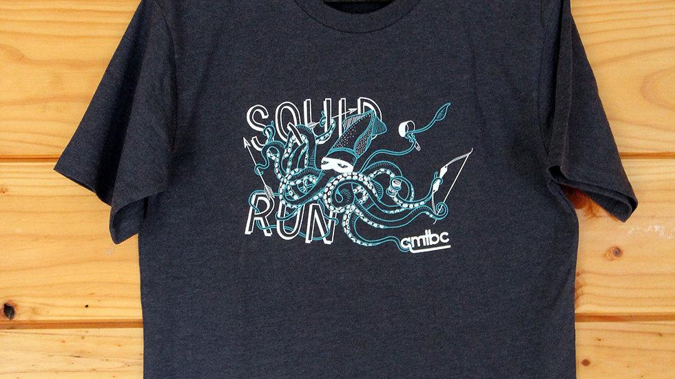 QMTBC Navy Marle Squid Run T-Shirt