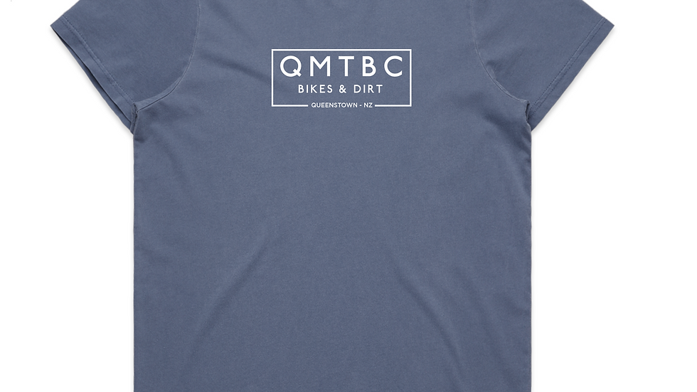 Women's Vintage QMTBC Faded Blue Tee