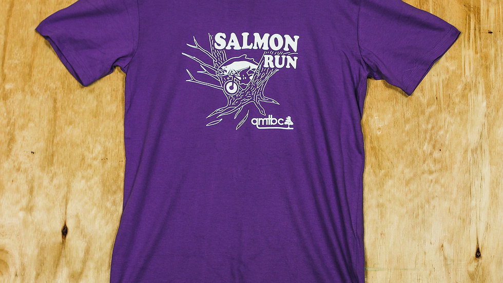 QMTBC Purple Salmon Run T-Shirt