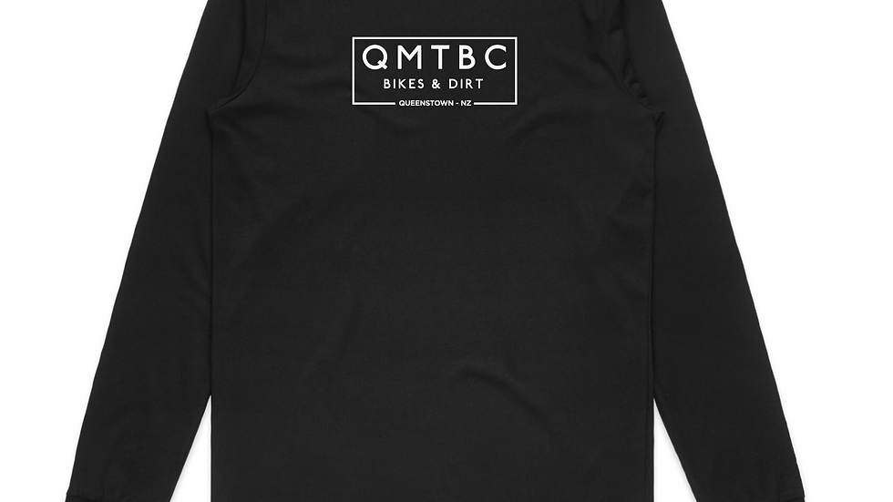 Vintage Organic BLACK Cotton QMTBC Long Sleeve Tee