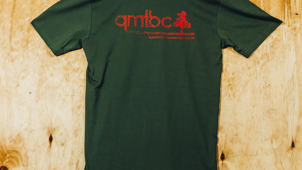 Men's QMTBC Topo Logo Army T-Shirt