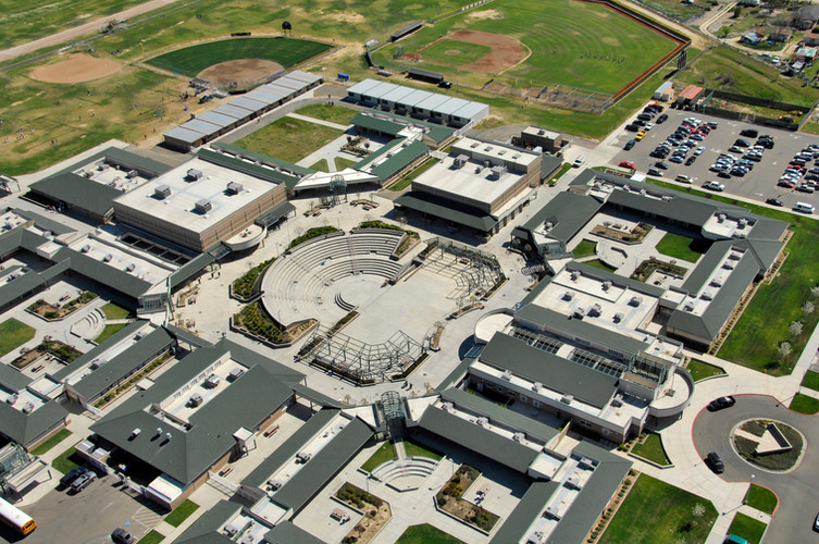 Buhach High School Aerial Shot