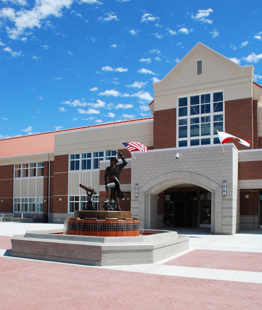 Pittsburg High School Innercourt Fountain