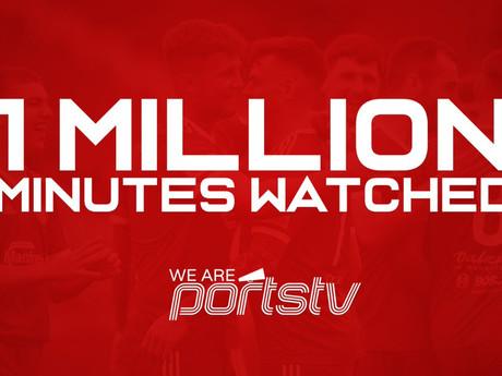 WAP TV Hits 1 Million Minutes Viewed During 2019/20 Season