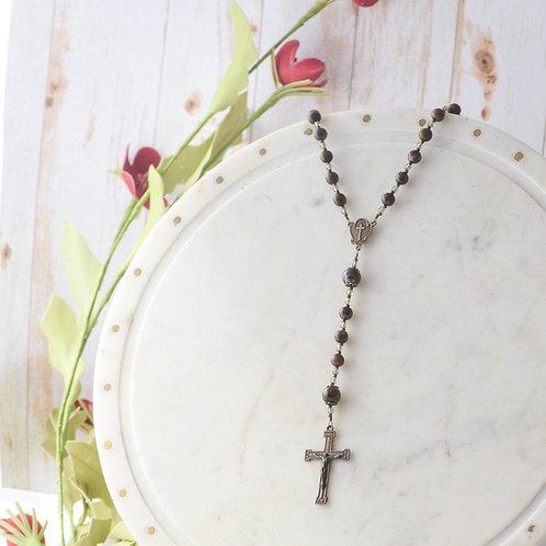 """Armor of God"" Rosary in Bronzite"