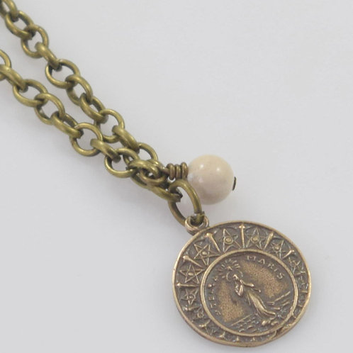 Maris Stella medal with ivory charm
