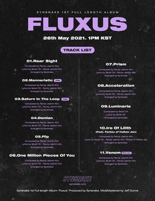 정규앨범 'Fluxus'트랙리스트 공개