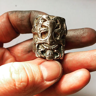 Silver Thor Viking Ring - Mens Massive Sterling Viking Rocker Biker Statement Jewelry - Th