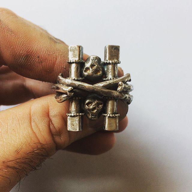 Pillars of Death Ring - SKull ring