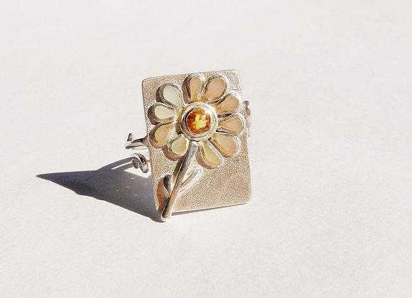 Womens Designer Ring, Yellow Sapphire by MMS Artisan Designs