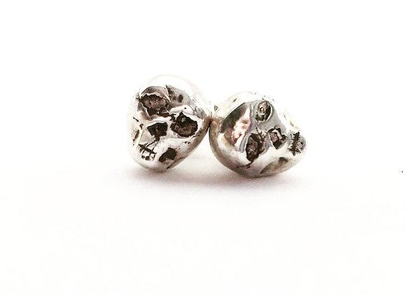 Skull earrings for women, designer skull earrings by LUGDUN ARTISANS