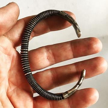 Men's silver Cuff Bracelet - Biker Rocker Jewelry - Tribal Bracelet - Lugdun Artisans .JPG