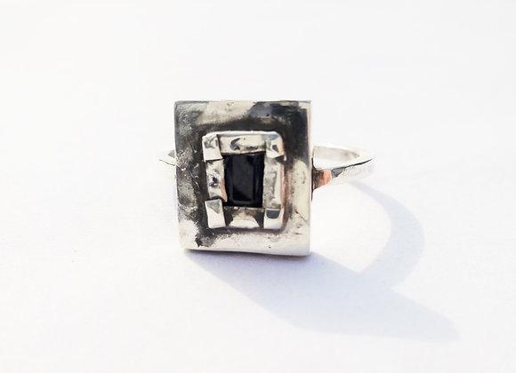 Blue Sapphire Ring by MMS Artisan Designs