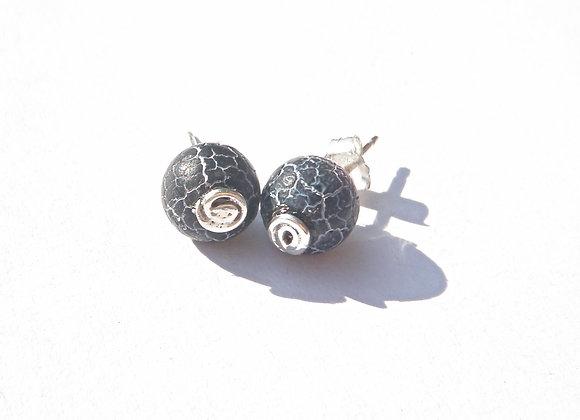 Black fashion earrings by MMS Artisan Designs