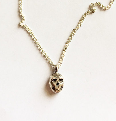 skull necklace for women, designer necklace by LUGDUN ARTISANS